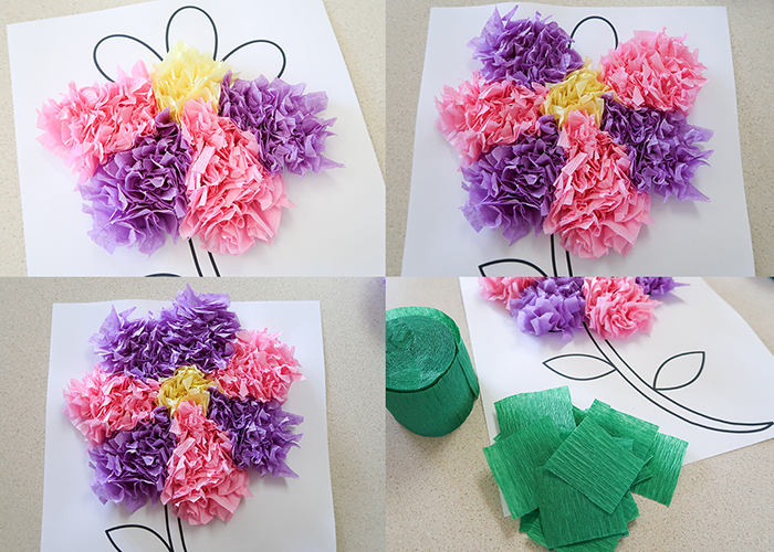 Tissue Paper Flower Art Project Woo Jr Kids Activities