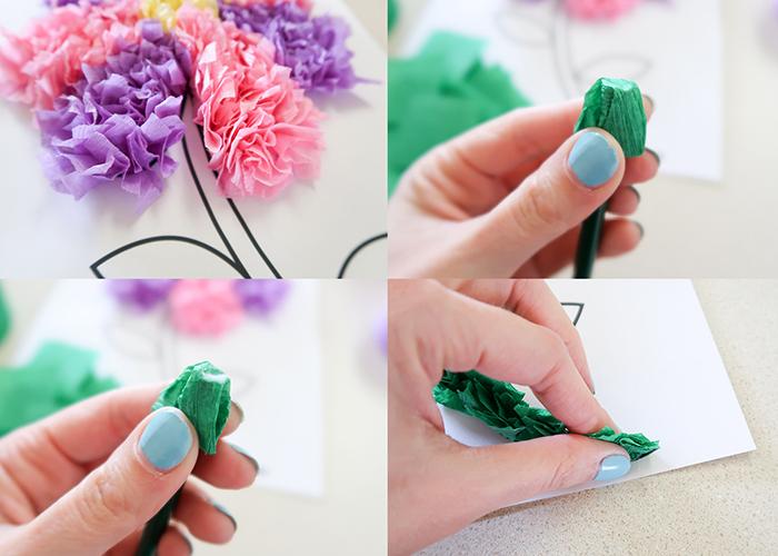 tissue paper flower art