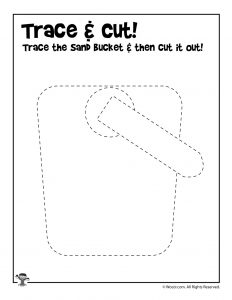 Trace and Cut Summer Worksheet