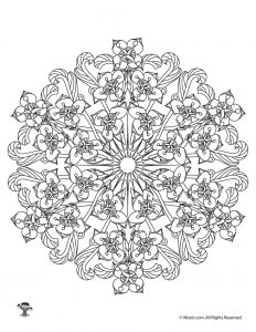 Bell Flower Mandalas Adult Coloring to Print