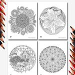 Adult Coloring Pages Flower Mandalas