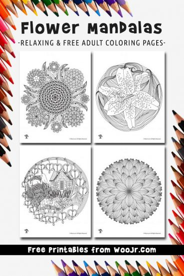 Adult Coloring Pages Flower Mandalas