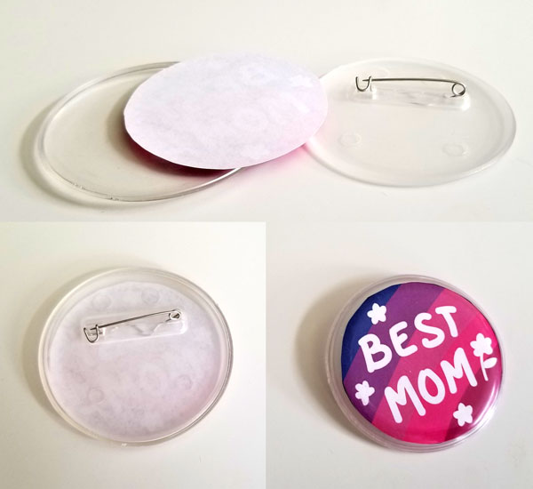 How to Make Mother's Day Buttons