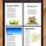 Printable Kid's Poems for the Month of May