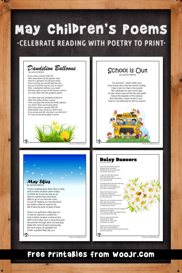 May Children's Poems - Celebrate Reading with poetry to print
