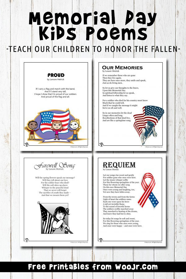photo about Closed Memorial Day Sign Printable identified as Memorial Working day Young children Poems Woo! Jr. Children Pursuits