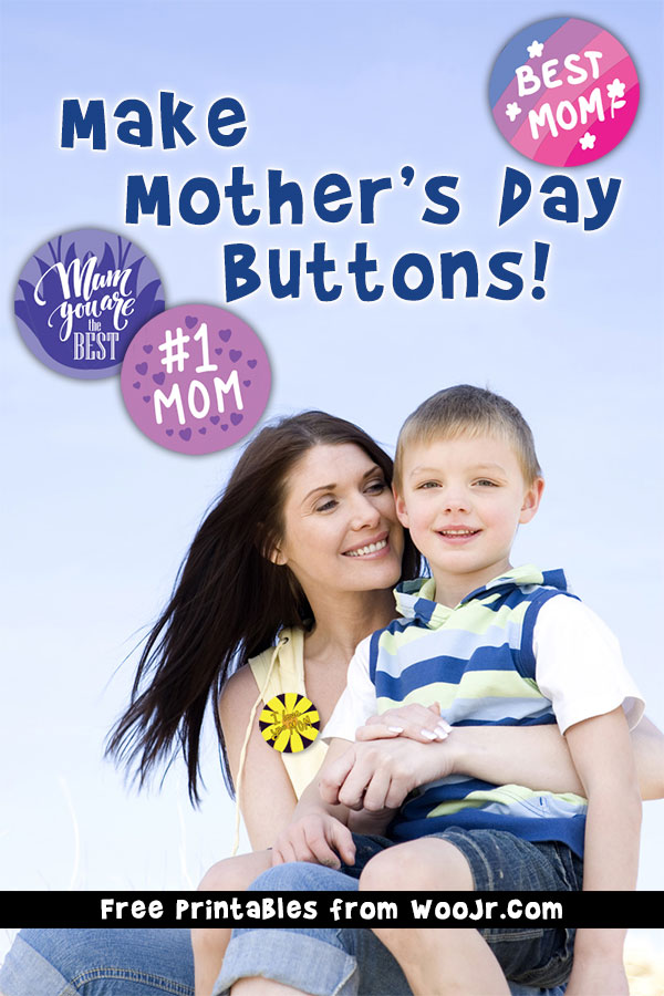 Mother's Day Buttons Craft