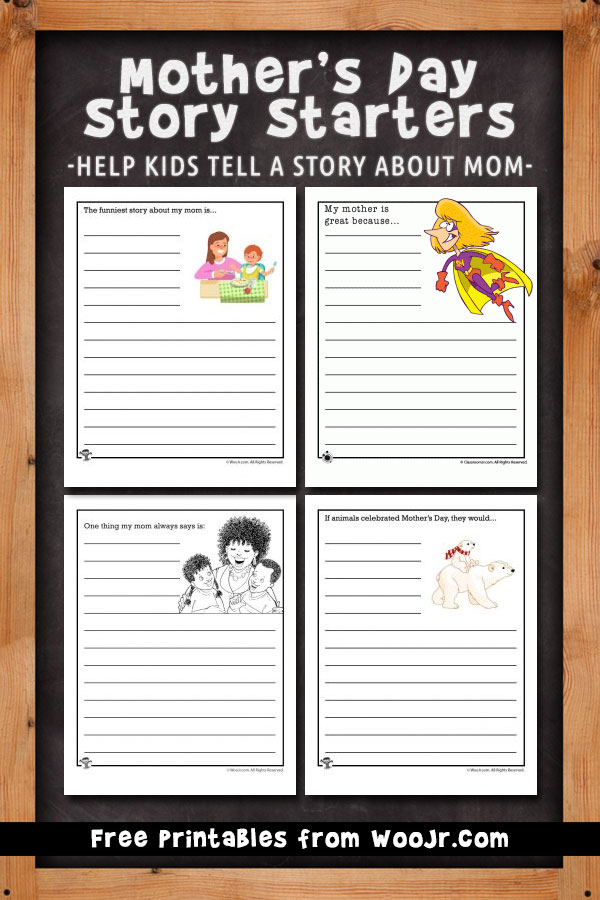 Mother S Day Story Starters Woo Jr Kids Activities