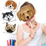 Printable Dog Masks in 6 Different Breeds!