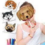Printable Dog Masks in 6 Different Breeds!