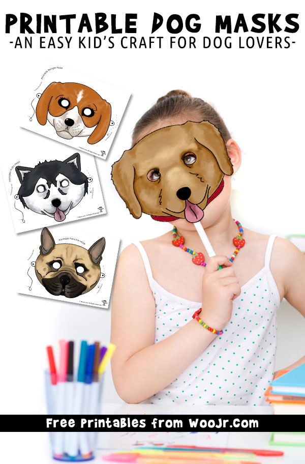 Printable Dog Masks - An Easy Kid's Craft for Dog Lovers