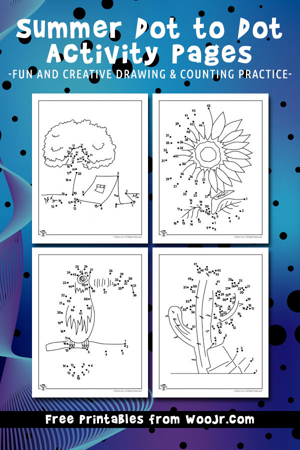 Summer Dot to Dot Activity Pages