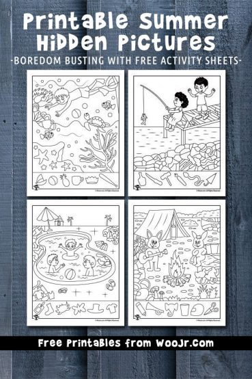 Printable Summer Hidden Pictures