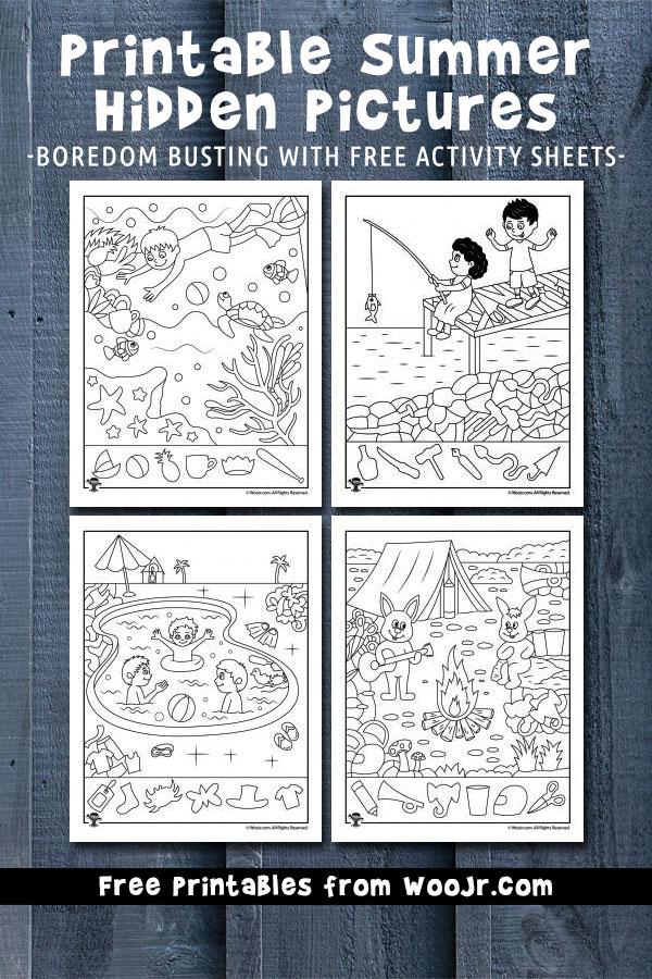 Printable Summer Hidden Pictures - Boredom busting with free activity sheets