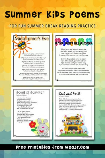 Summer Poems for Kids