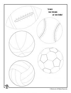 Summer Sports Tracing Worksheet