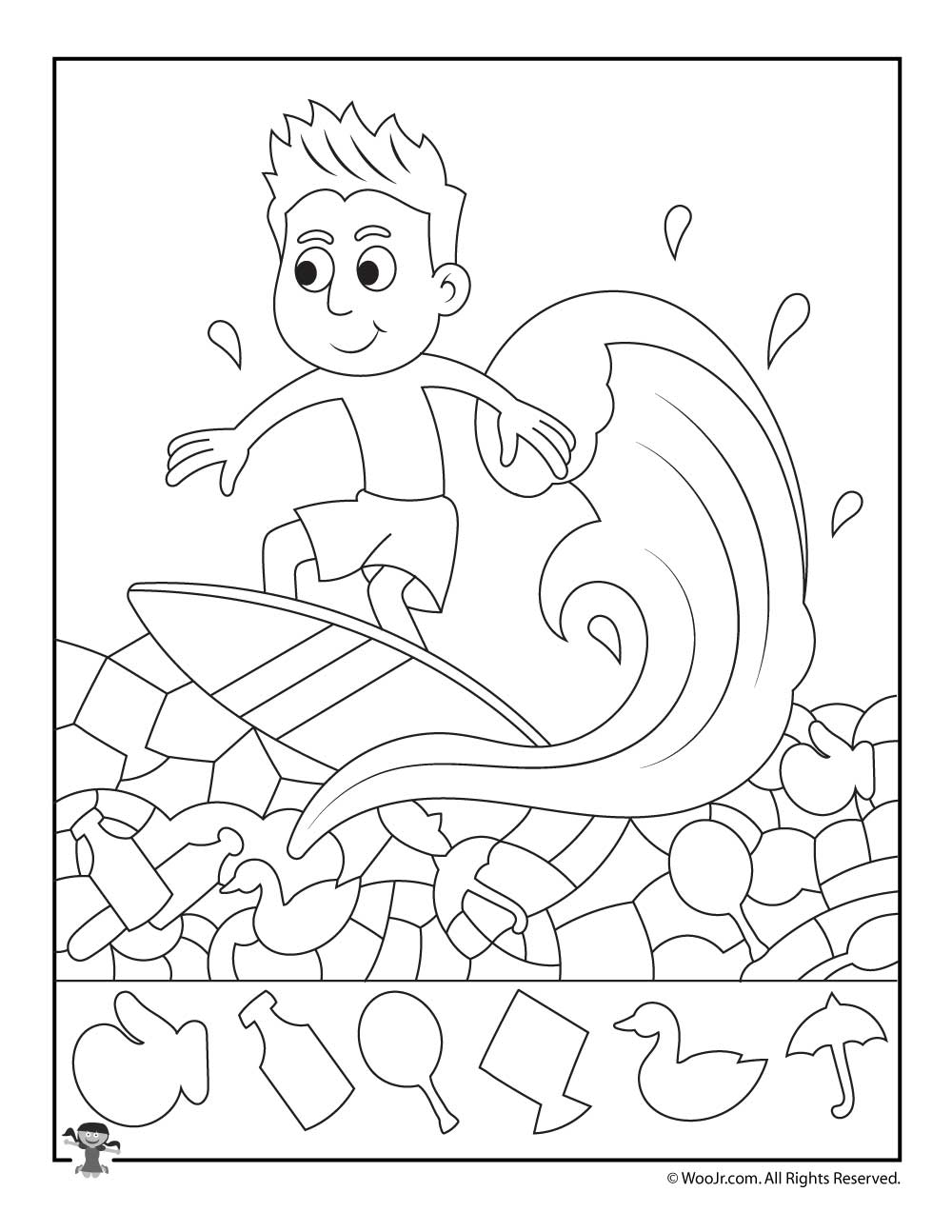 Surf S Up Summer Hidden Pictures Printable Woo Jr Kids Activities