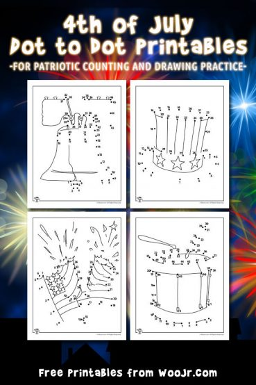 Printable 4th of July Dot to Dot Pages