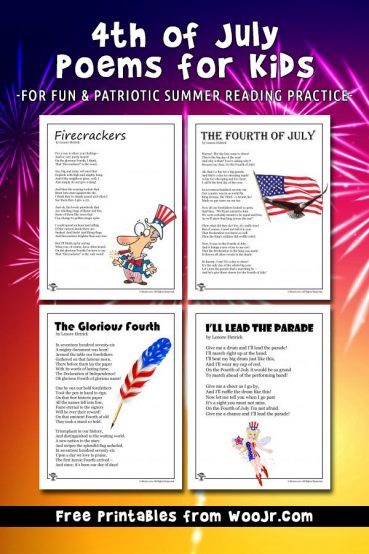 4th of July Kids Poems