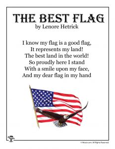 The Best Flag Poem for Children