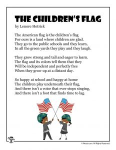The Children's Flag Poem for Kids