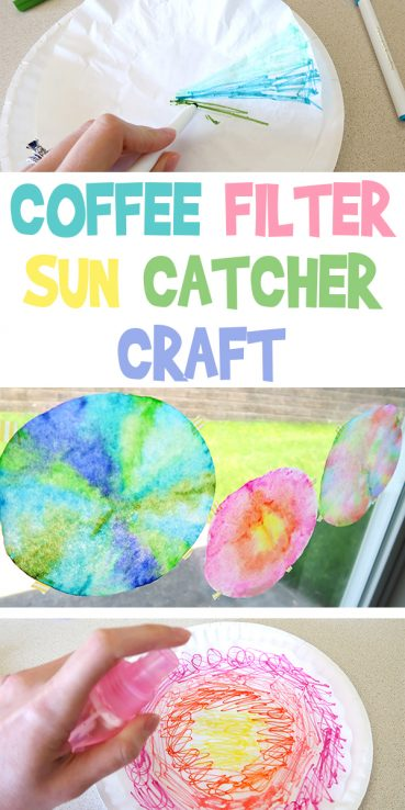 Coffee Filter Suncatcher Craft