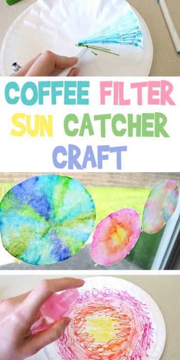 Coffee Filter Suncatcher Craft