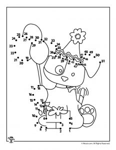 Happy Birthday Dot to Dot Printable