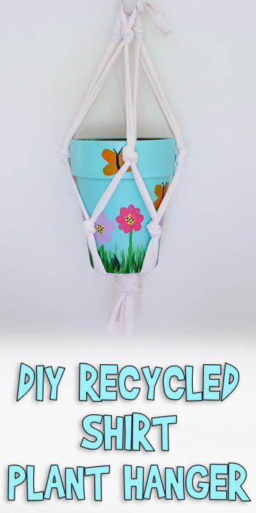 DIY Recycled Shirt Plant Hanger