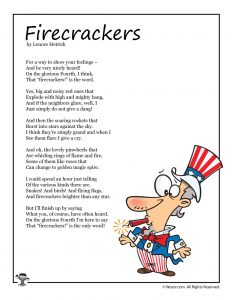 Firecrackers 4th of July Kids Poem