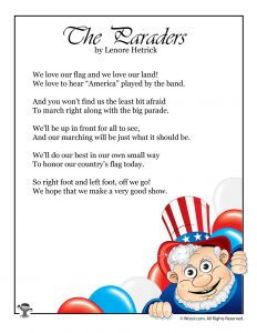 The Paraders Flag Day Poem for Kids