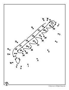 Hot Dog Picnic Dot to Dot Worksheet