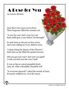A Rose for You Poem About June