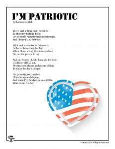 I'm Patriotic Poetry for Children