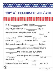 4th of July Ad Libs