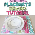 Quilted Summer Placemats Sewing Tutorial