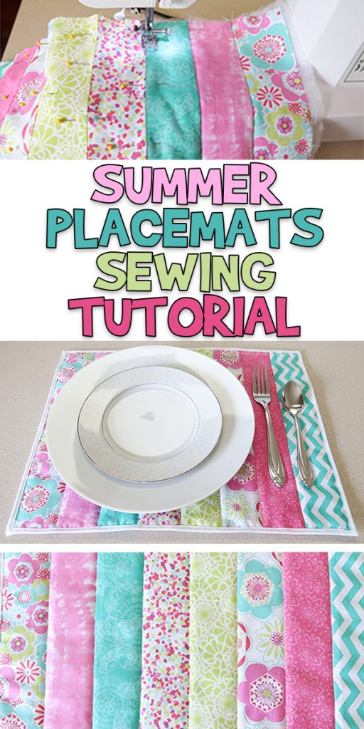 Quilted Summer Placemats Sewing Tutorial Woo Jr Kids Activities