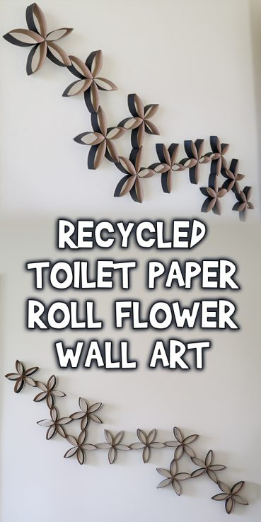 Recycled Toilet Paper Roll Flower Wall Art