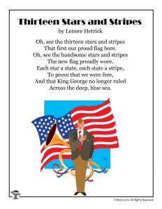 Thirteen Stars and Stripes Flag Day Poetry