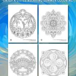 Ocean Mandalas Adult Coloring Pages