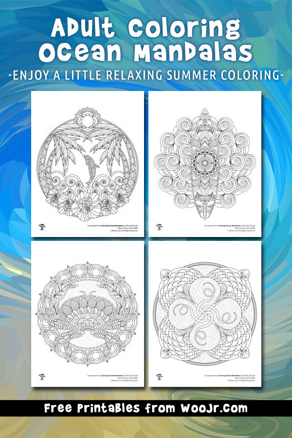 Ocean Mandalas Adult Coloring Pages Woo Jr Kids Activities