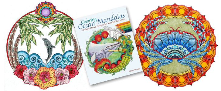 Coloring Ocean Mandalas Adult Coloring Book