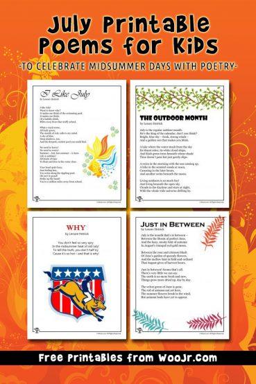 Printable July Kids Poems