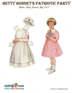Vintage Nurse Printable Paper Doll