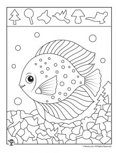 Ocean Angel Fish Hidden Picture Printable