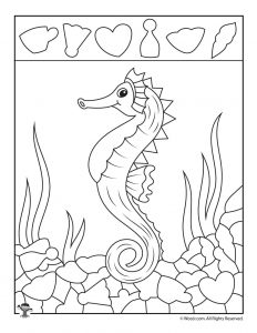 Sea Horse Hidden Pictures Shape Recognition