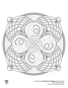 Stingray Adult Coloring Page Ocean Mandala