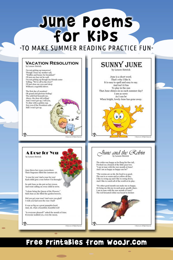June Poems for Kids to Make Summer Reading Practice Fun