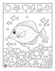 School of Fish Hidden Picture Printable