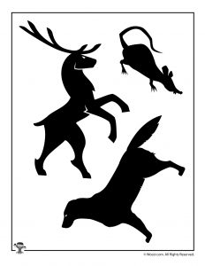 Animagi and Patronus Stag, Wormtail, and Padfoot Shadow Puppets